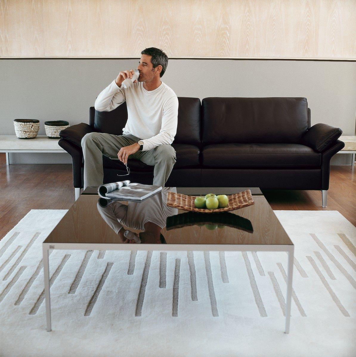 rolf benz ledersofa h ls die einrichtung. Black Bedroom Furniture Sets. Home Design Ideas